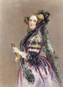 Watercolour painting of Ada Lovelace by Alfred Edward Chalon